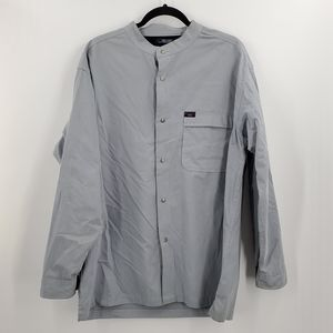 Tommy Hilfiger Snap Button Up Long Sleeve Suede